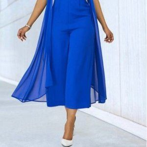 Melissa McCarthy Seven7 Cropped Wide Leg Blue Pant